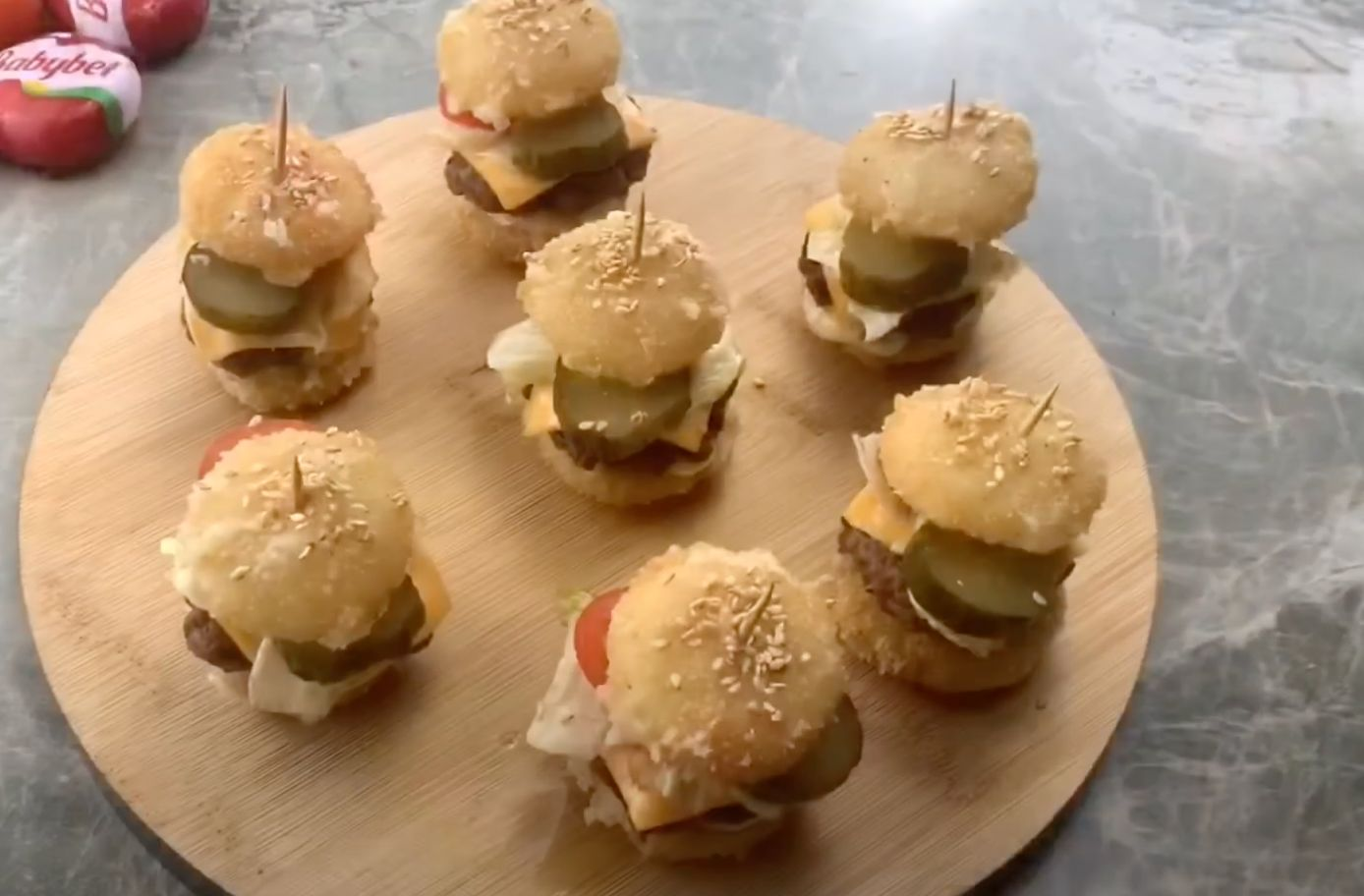 Mini Prime Cheeseburgers with Rémoulade and Aged Cheddar Recipe