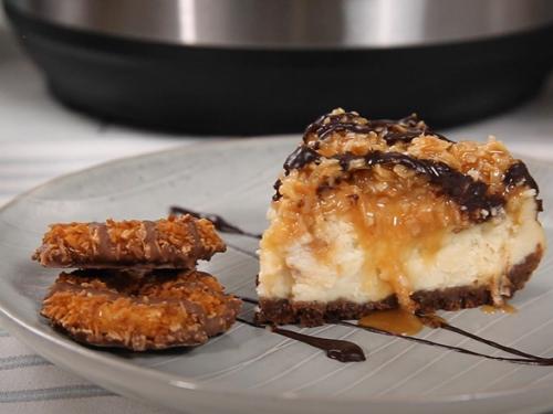no bake samoa cheesecakes recipe
