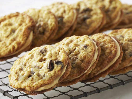 oatmeal raisin breakfast cookie sandwiches recipe