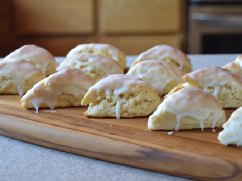 petite vanilla bean scones with vanilla glaze recipe