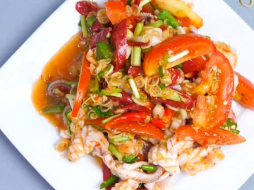 pickled vegetable-seafood salad recipe