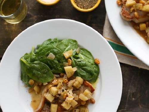 pork chops and applesauce recipe