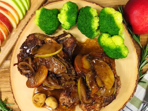 pork chops with apple and onion recipe
