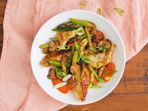 pot sticker stir-fry recipe