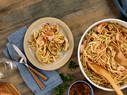 shrimp and artichoke pasta recipe