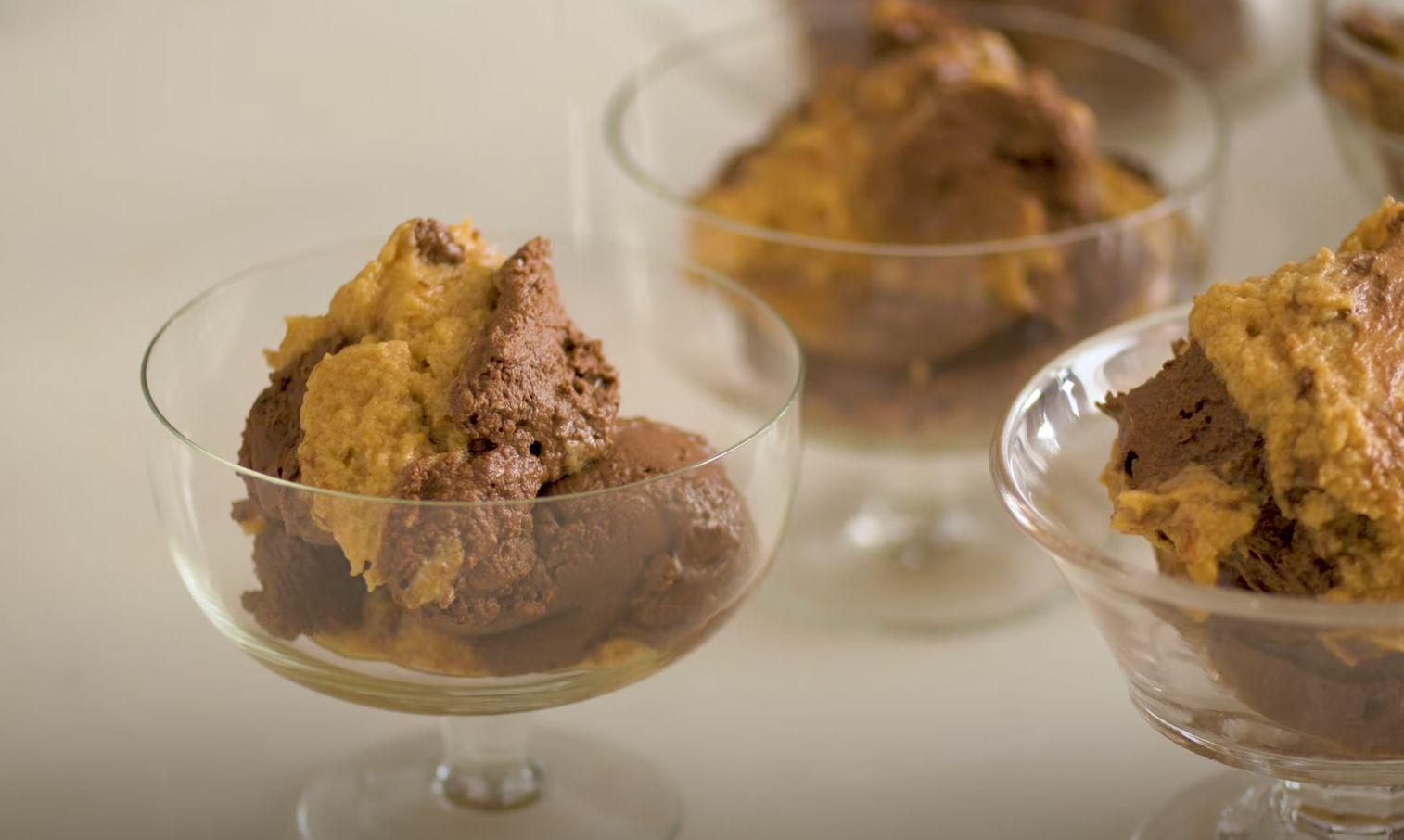Silky Chocolate Mousse with Peanut Butter Crunch Recipe