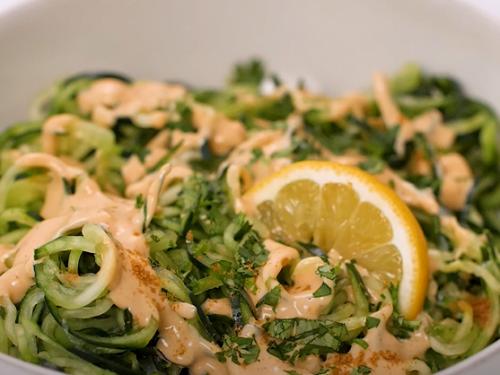 snow peas and cucumber linguine recipe