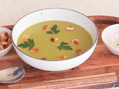 split pea soup with portobellos recipe