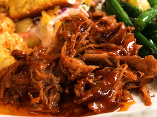 sweet and smoky slow-cooked pulled pork loin recipe