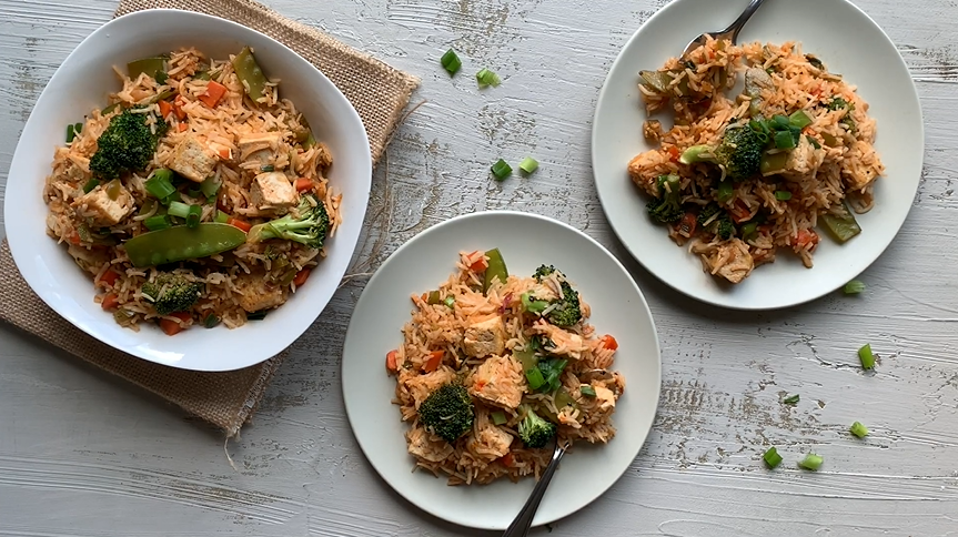 teriyaki tofu fried rice recipe