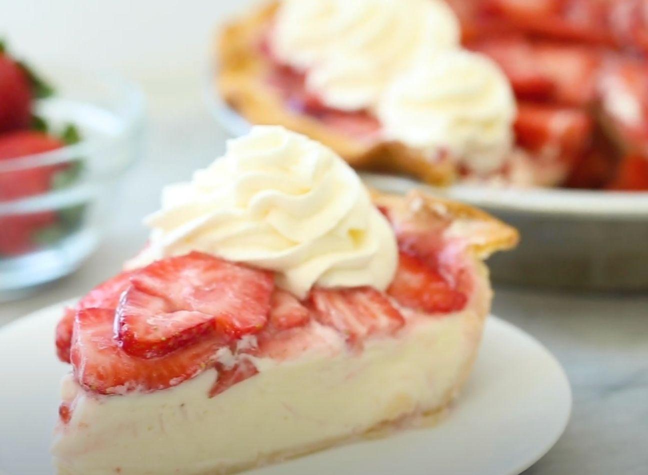 Tropical Strawberry Cream Pie Recipe
