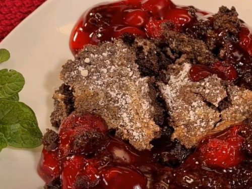 cherry chocolate dump cake recipe