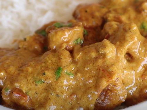 skillet curried chicken recipe
