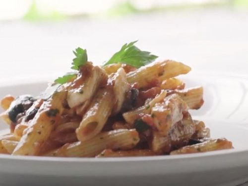 penne arrabbiata with flaked cod recipe