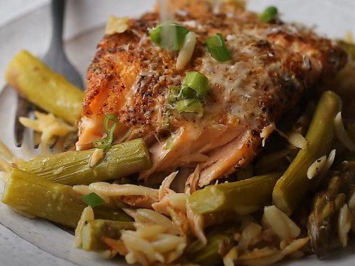 salmon asparagus orzo salad recipe