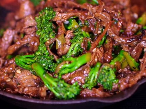 spicy beef and broccoli salad with kimchi recipe