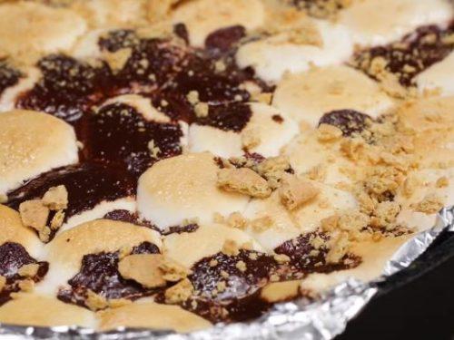 skillet brownie s'mores recipe