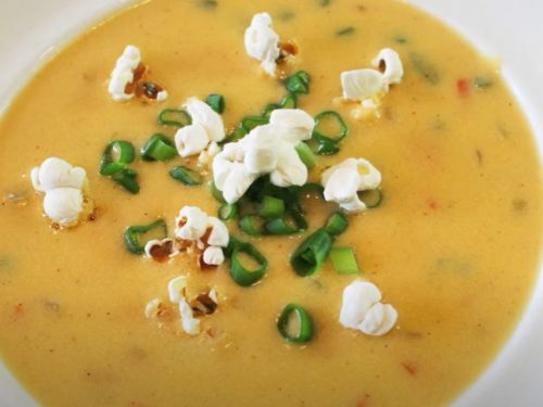 beer cheese soup with cheese toasts recipe