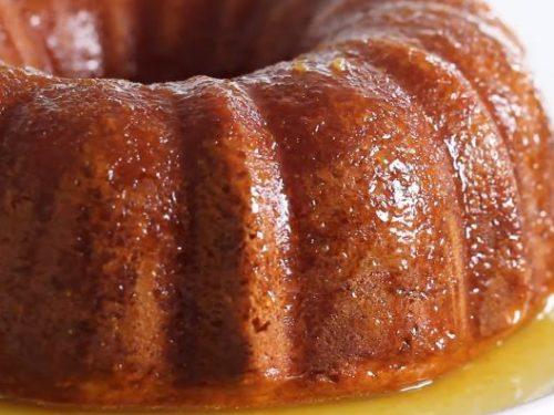 glazed orange bundt cake recipe