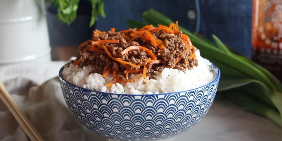 korean beef rice bowls recipe