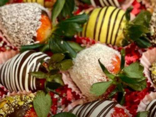 nutty chocolate covered strawberries recipe