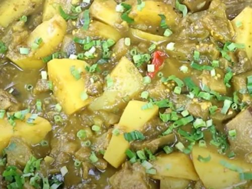 eggplant and potato curry recipe