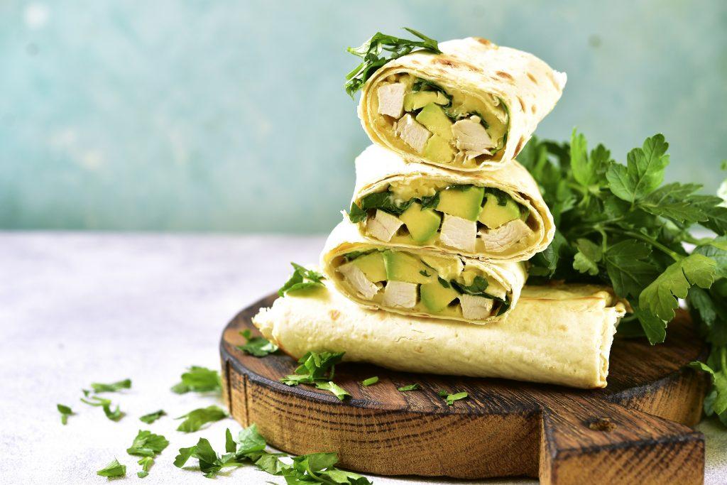 baked chicken avocado burritos recipe