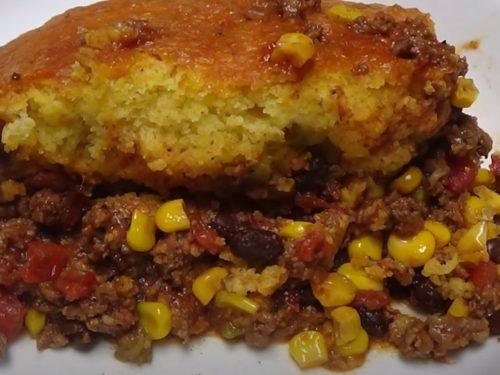 Beef and Cornbread Casserole Recipe
