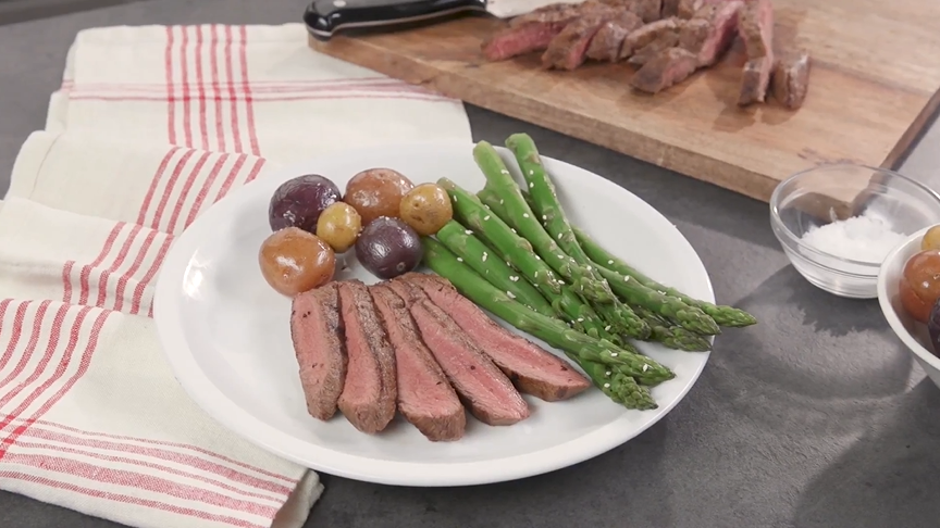 broiled asian-style flat iron steak recipe