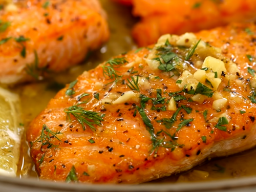 broiled salmon with ginger and lime recipe