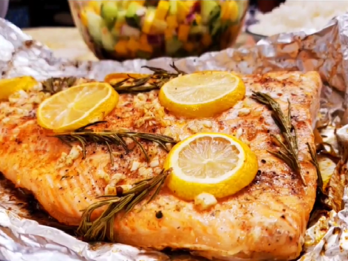 broiled salmon with rosemary recipe