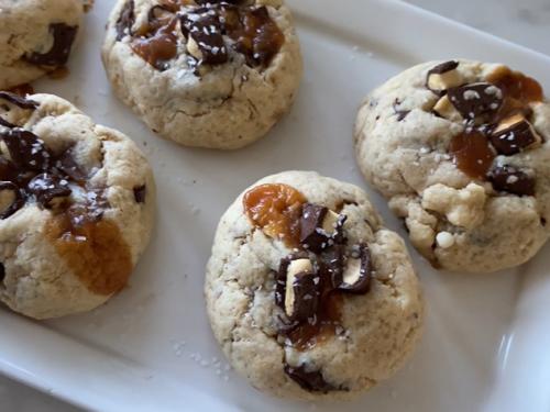 caramel molasses cookies recipe
