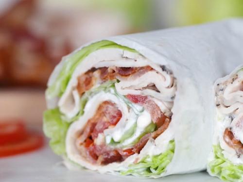 chicken club lettuce wrap sandwich recipe