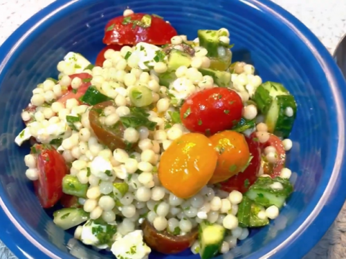 couscous with tomatoes and feta recipe