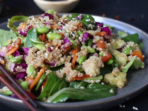 easy sesame quinoa salad recipe