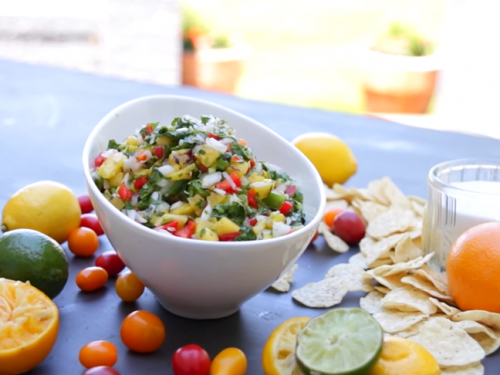 grilled mango and pineapple salad recipe