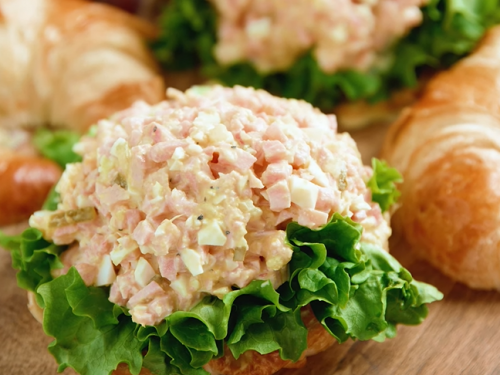 ham and cheese salad with homemade ranch dressing recipe