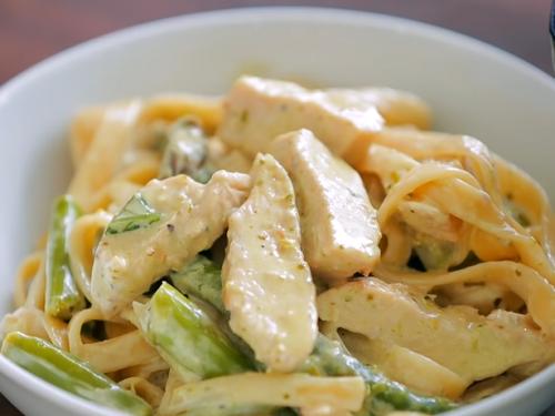lemon asparagus chicken pasta recipe