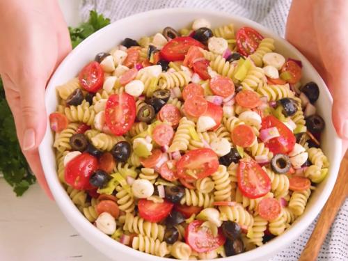 macaroni salad with tomatoes recipe