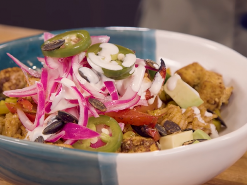 mango burrito bowls with crispy tofu recipe