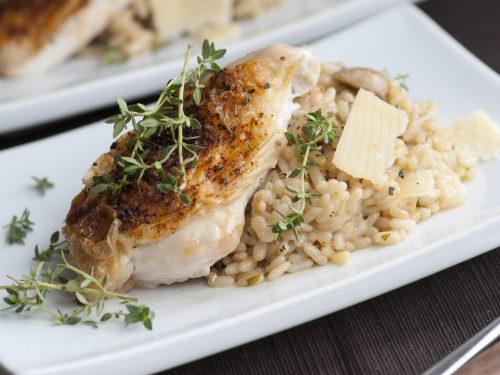 mushroom and chicken risotto recipe