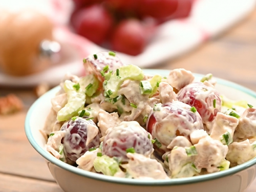 pineapple chicken salad with grapes recipe