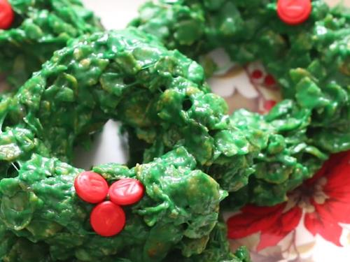 rice krispy wreath recipe