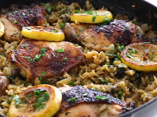 skillet chicken and rice recipe