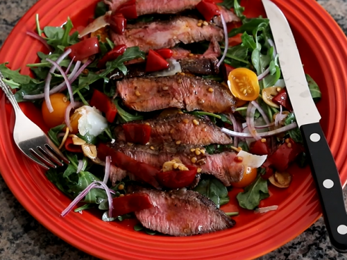 steak salad with arugula and parmesan cheese recipe