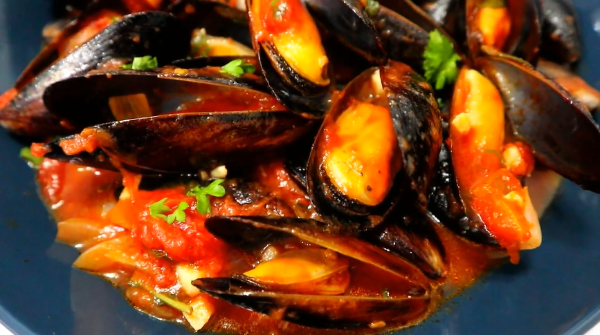 tuscan tomato bread soup with steamed mussels recipe