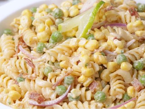 warm pasta salad with corn and zucchini recipe